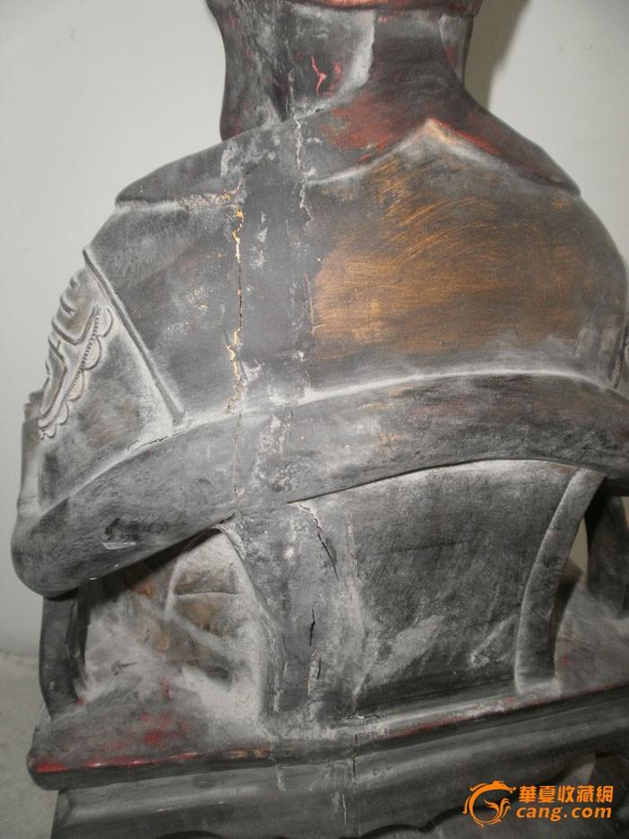 香樟木鎏金佛像