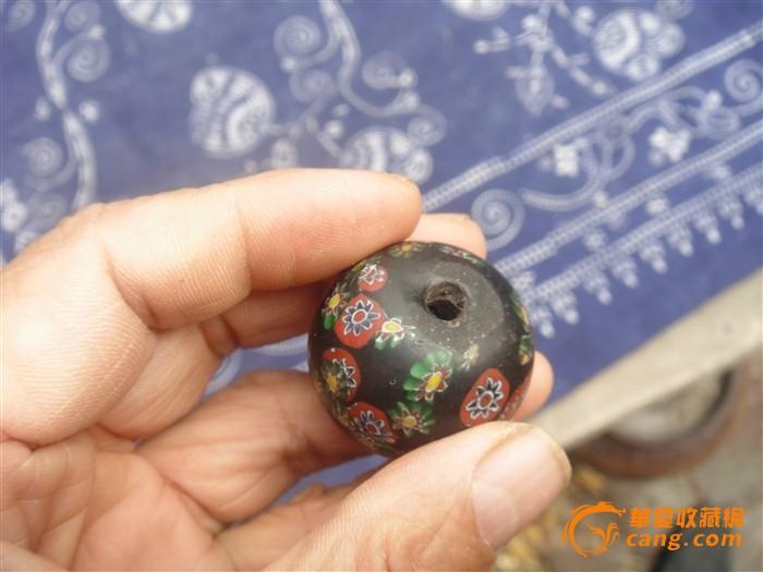 汉五彩琉璃珠子
