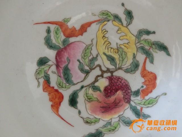 老物件手绘清代乾隆粉彩白菜碗