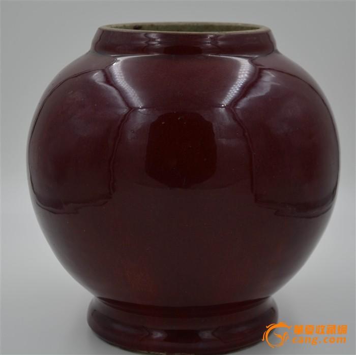 康熙年代红釉窑变赏瓶,瓶体图1