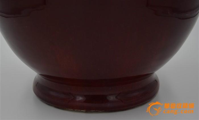 康熙年代红釉窑变赏瓶,瓶体图3