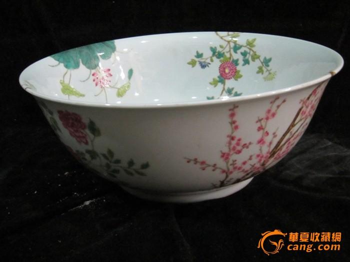 粉彩花纹碗_粉彩花纹碗价格图片