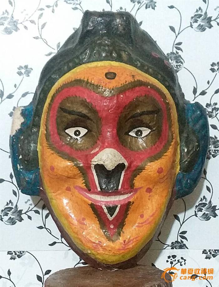 铲地*-民国猴子面具