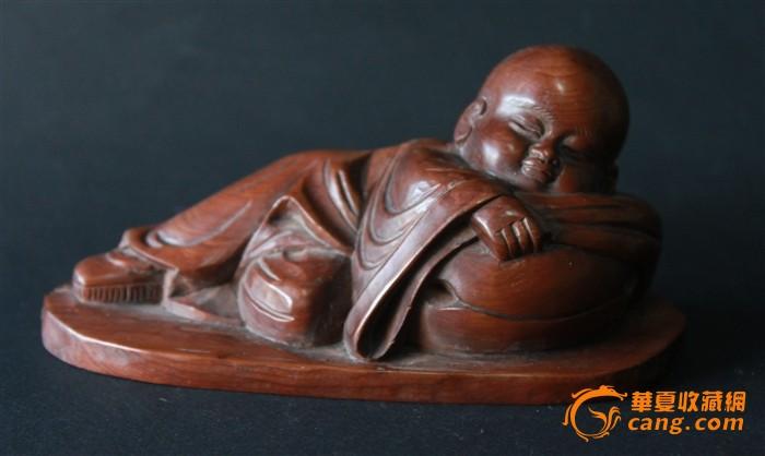 小和尚黄杨木雕.