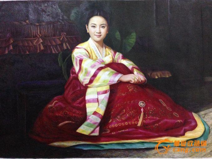 朝鲜名家人物油画
