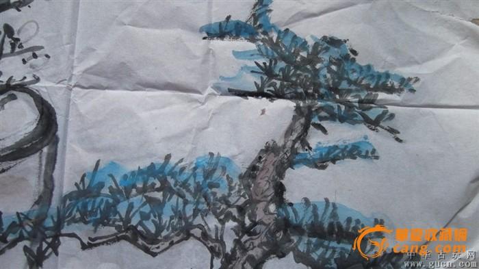 国画松树盆景和梅花,水平非常的高