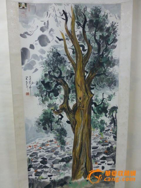 吴冠中一颗大树作品