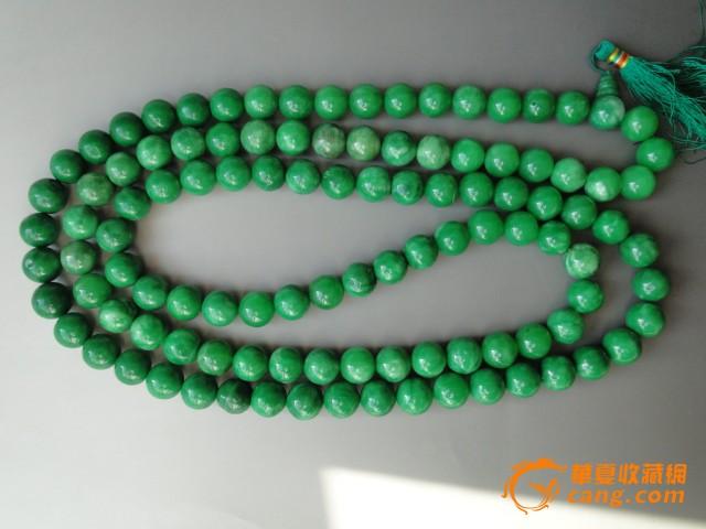 老翡翠珠子项链