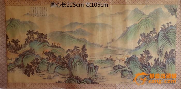 地摊 字画 古代 > 文徽明山水画   显示上一幅图片 显示下一幅图片