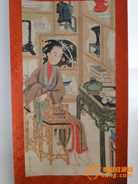 清代宫廷画家冷枚人物画