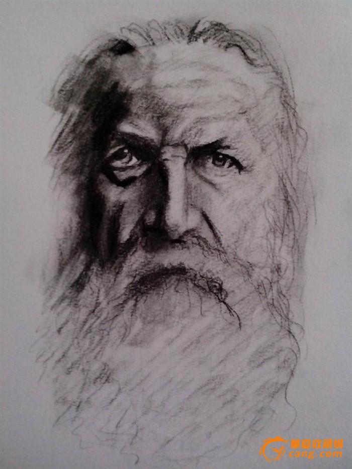 丰雪亮炭笔画人物手稿素描
