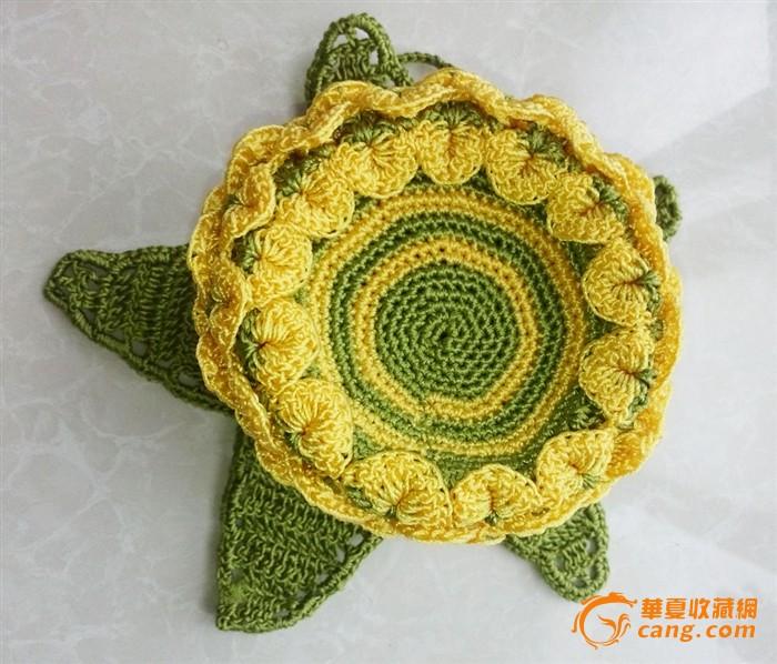 纯手工钩针编织休闲手提菠萝包包