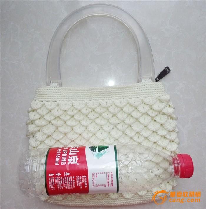 钩针编织手提菠萝花百搭包包