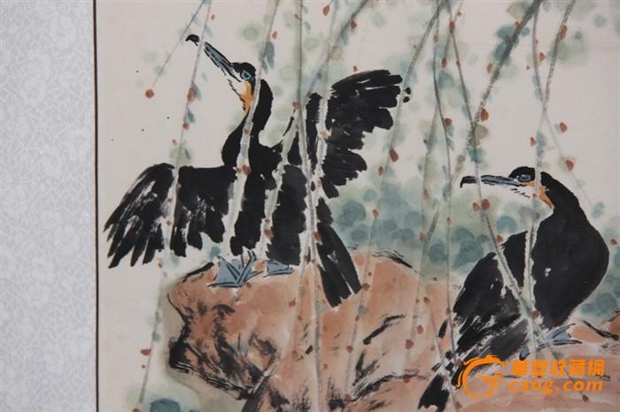 国画 柳树鸭子141201.49