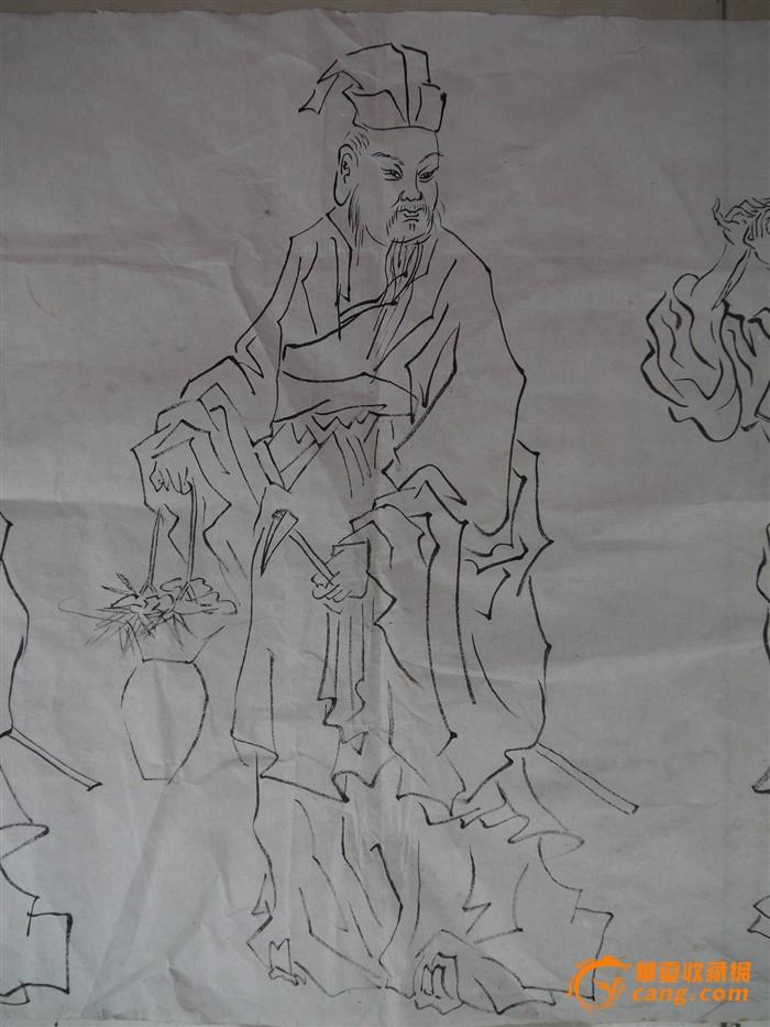 ██ 民国手绘白描人物画