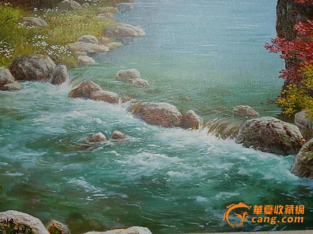 朝鲜山水油画