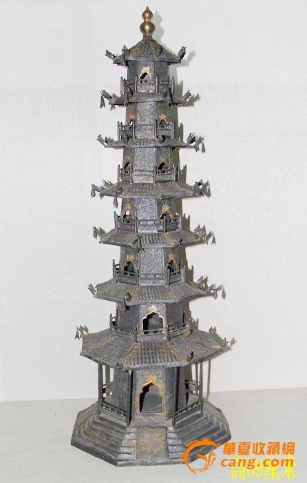 唐代银质的佛塔