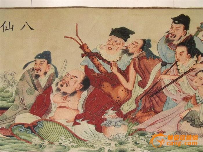 八仙过海织锦画