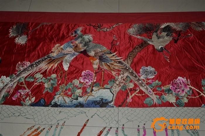 超大民国刺绣---凤凰牡丹松鹤