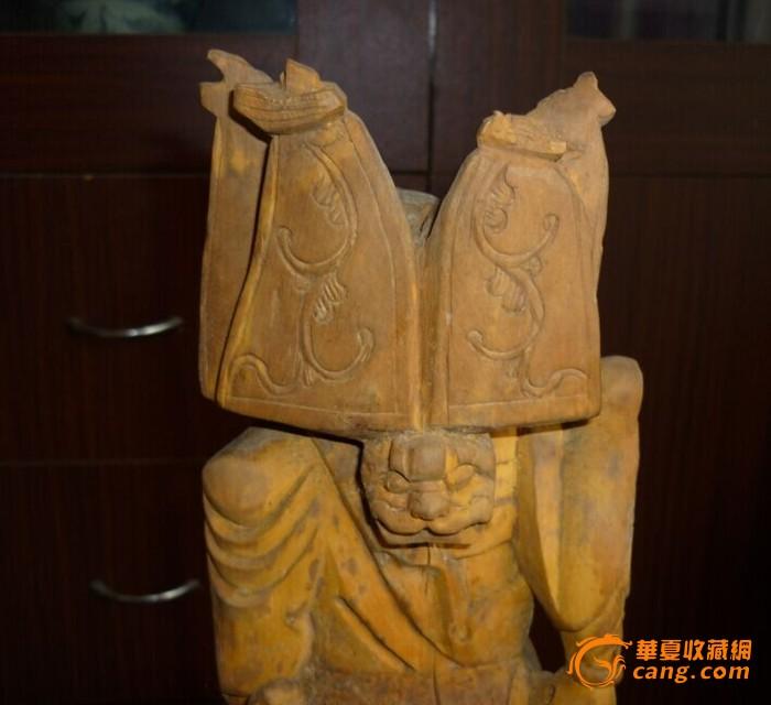 黄杨木雕关公像;喜欢开门老货到我地摊看看_黄