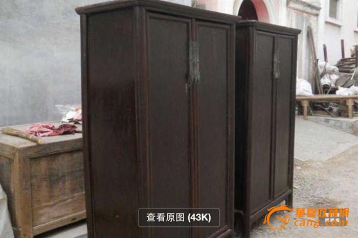 【江啸堂】藏品 古玩 清代苏做明式书柜一对老柜子大衣柜图片