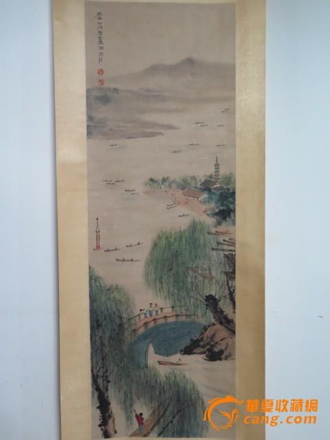 傅抱石风景人物画