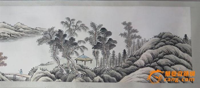 应野平山水画长卷图片