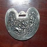 不还价老银器系列之一:双面阳工厚如意锁片