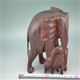 老红木雕刻,太平有象