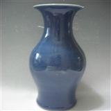 晚清霁蓝釉瓶