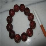 印度小叶紫檀2.0厘米莲花纹手链