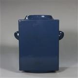 同治霁蓝象耳瓶