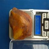 鸡油黄蜜蜡原石38克